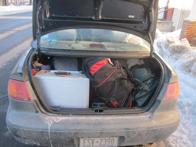 Corolla trunk is filled - we are ready to go!