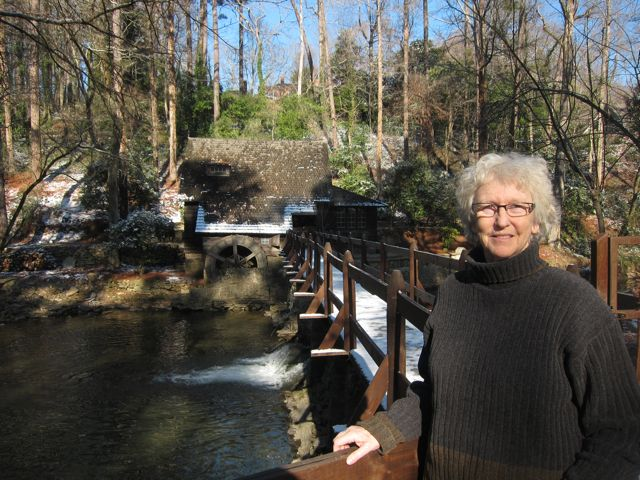 Karen in front of Old Mill - Mountain Brook AL