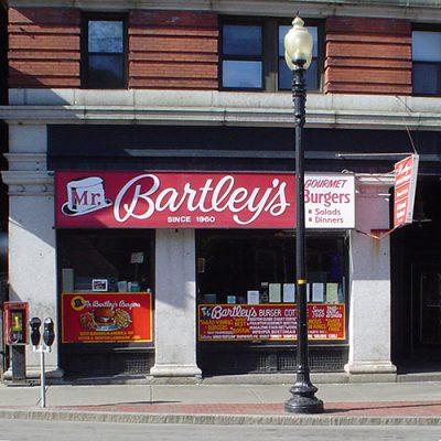 Karen works at Mr. Bartley's Gourmet Burgers – Harvard Sq.