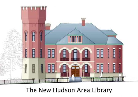 Hudson Area Library  agrees to support from Galvan Foundation for rebuild of Armory
