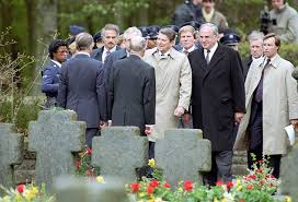 President Reagan at Bitberg military cemetery.